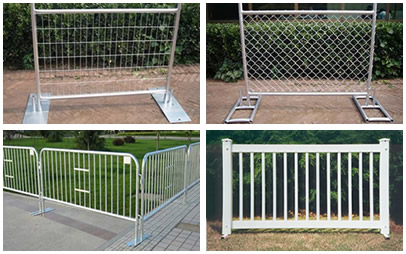 Welded portable fence, chain link portable fence, crowd control barrier and event portable fence.