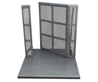 A piece of gate panel stage barrier.